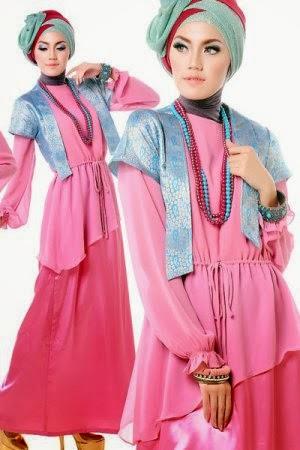 Gambar style busana muslimah dengan warna yang menarik