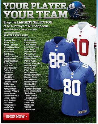 Oct. 17, 2012 NFLshop email