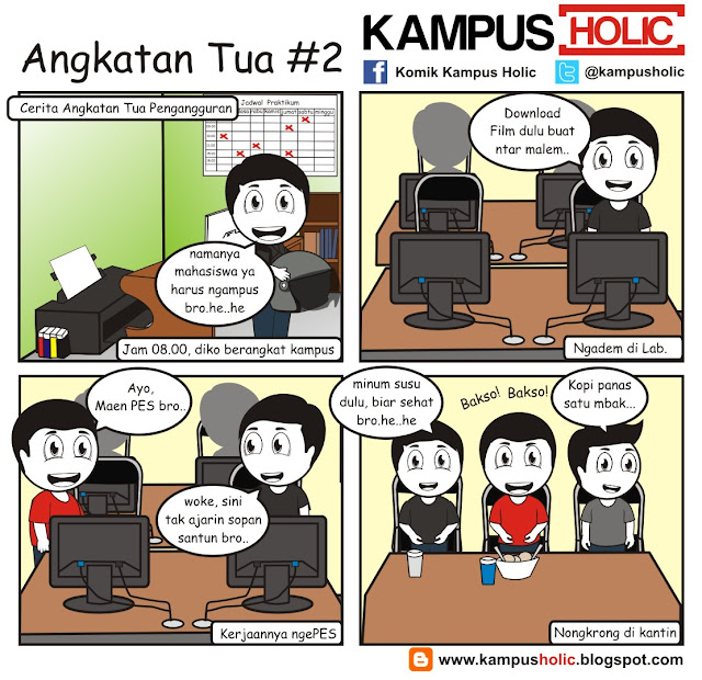 #178 Angkatan Tua #2 mahasiswa komik kampus holic