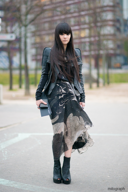 mitograph Kozue Akimoto 秋元梢 After Rick Owens Paris Fashion Week 2013 2014 Fall Winter PFW Street Style Shimpei Mito
