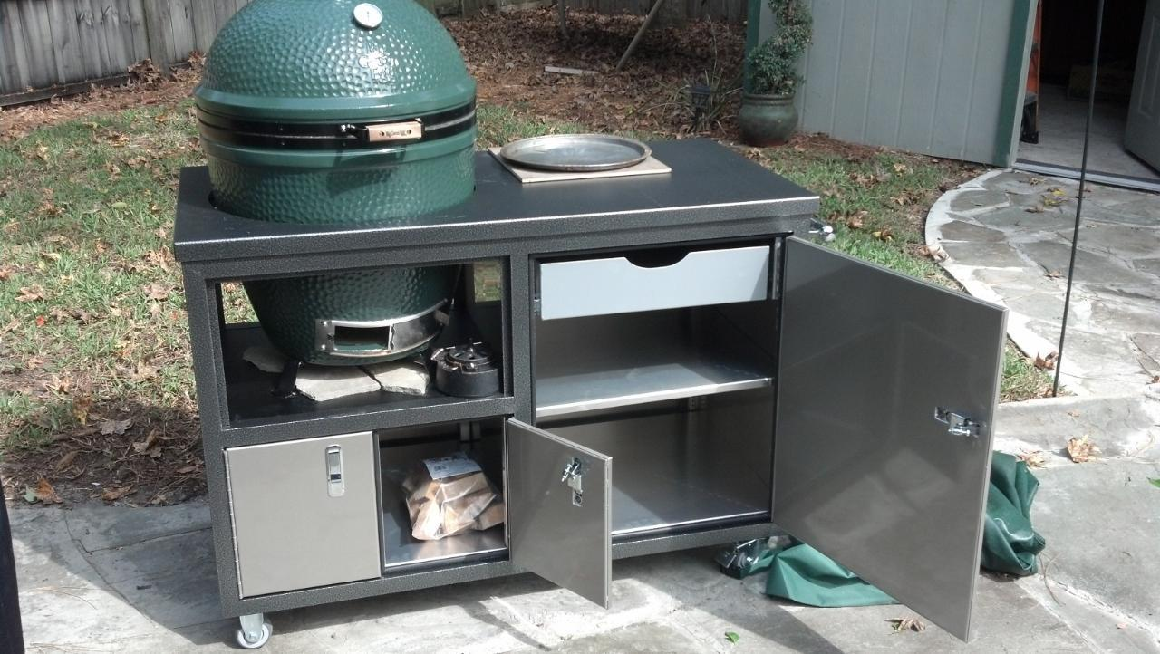 Free Garbage Can Storage Shed Plans Big Green Egg Table