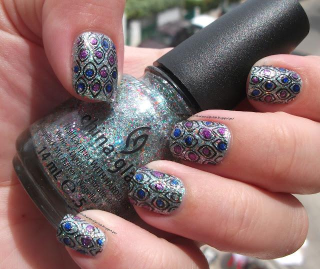 Peacock nails / Unhas de pavão