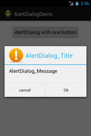 Android AlertDialog