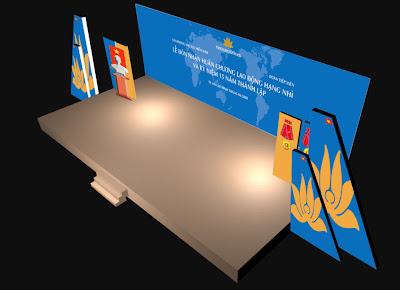 Thiết kế Backdrop, banner, standee