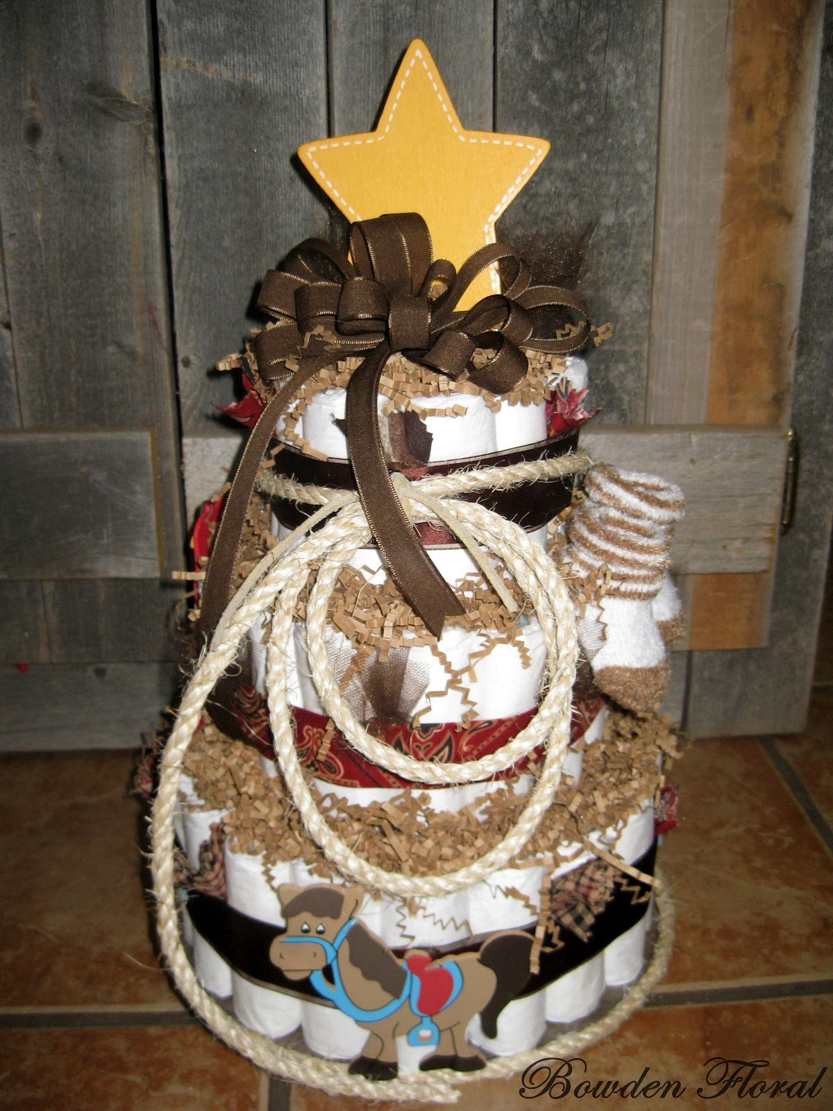 ... the first cake was for a baby shower for a western themed baby boy