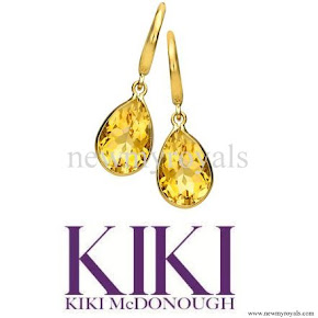 Kate Middleton style Kiki McDonough Citrine Pear Drop Earrings