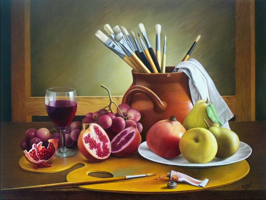 Im genes arte pinturas bodegones de frutas y flores - Fotos de bodegones de frutas ...