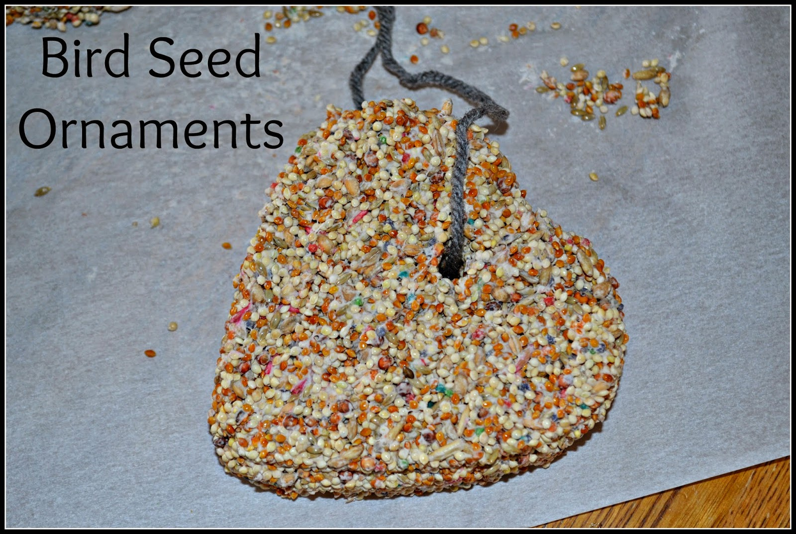 Winter craft for toddlers bird seed ornaments building for How to make winter crafts