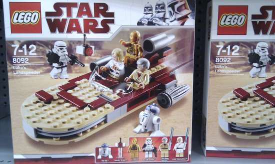 8092 lukes landspeeder star wars lego collectables