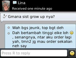 Testimoni grow up olips beauty