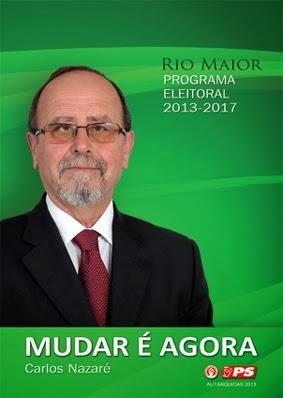 Conheça o Programa Eleitoral do PS Rio Maior para os próximos quatro anos