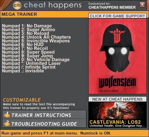 Wolfenstein 2009 v1.2 ( 14 Trainer)
