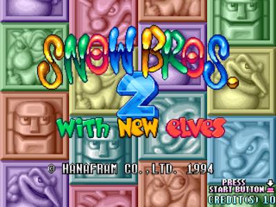 雪人兄弟2(Snow Bros. 2)+金手指作弊碼,經典懷舊的街頭大型機檯電玩休閒遊戲!