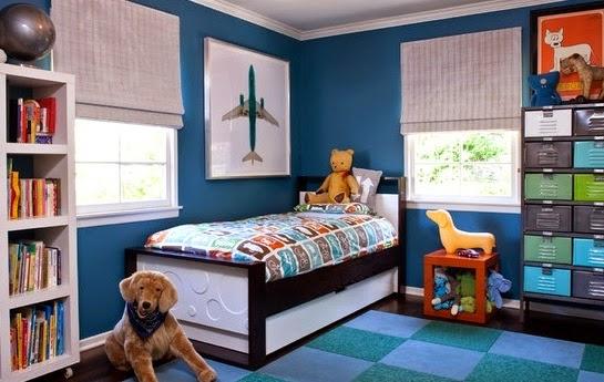 Pin dormitorio juvenil veta blanco azul pictures on pinterest - Habitaciones infantiles azules ...