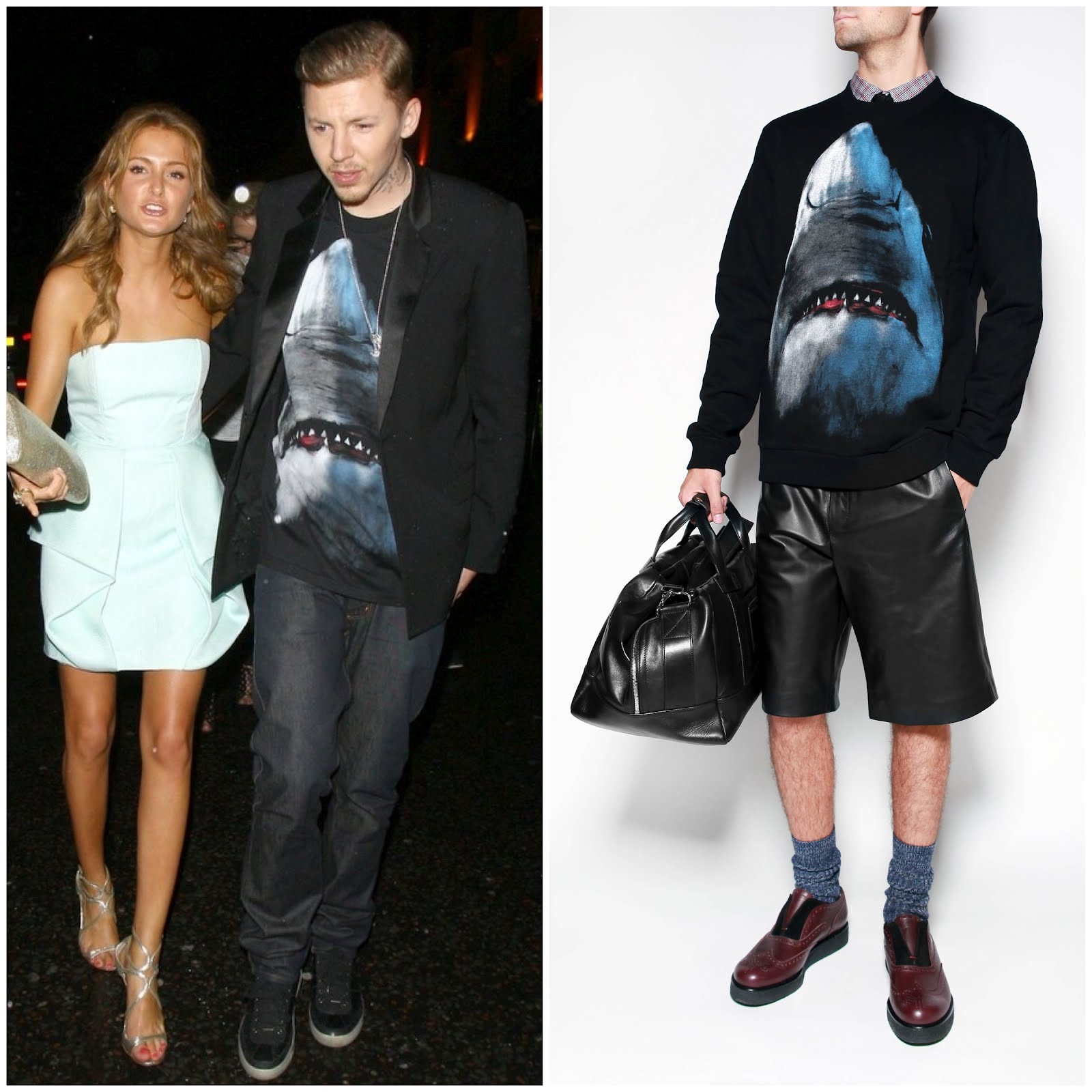 00o00 menswear london blog fashion style Givenchy shark shirt sweat Professor Green Tinie Tempah Mr Porter