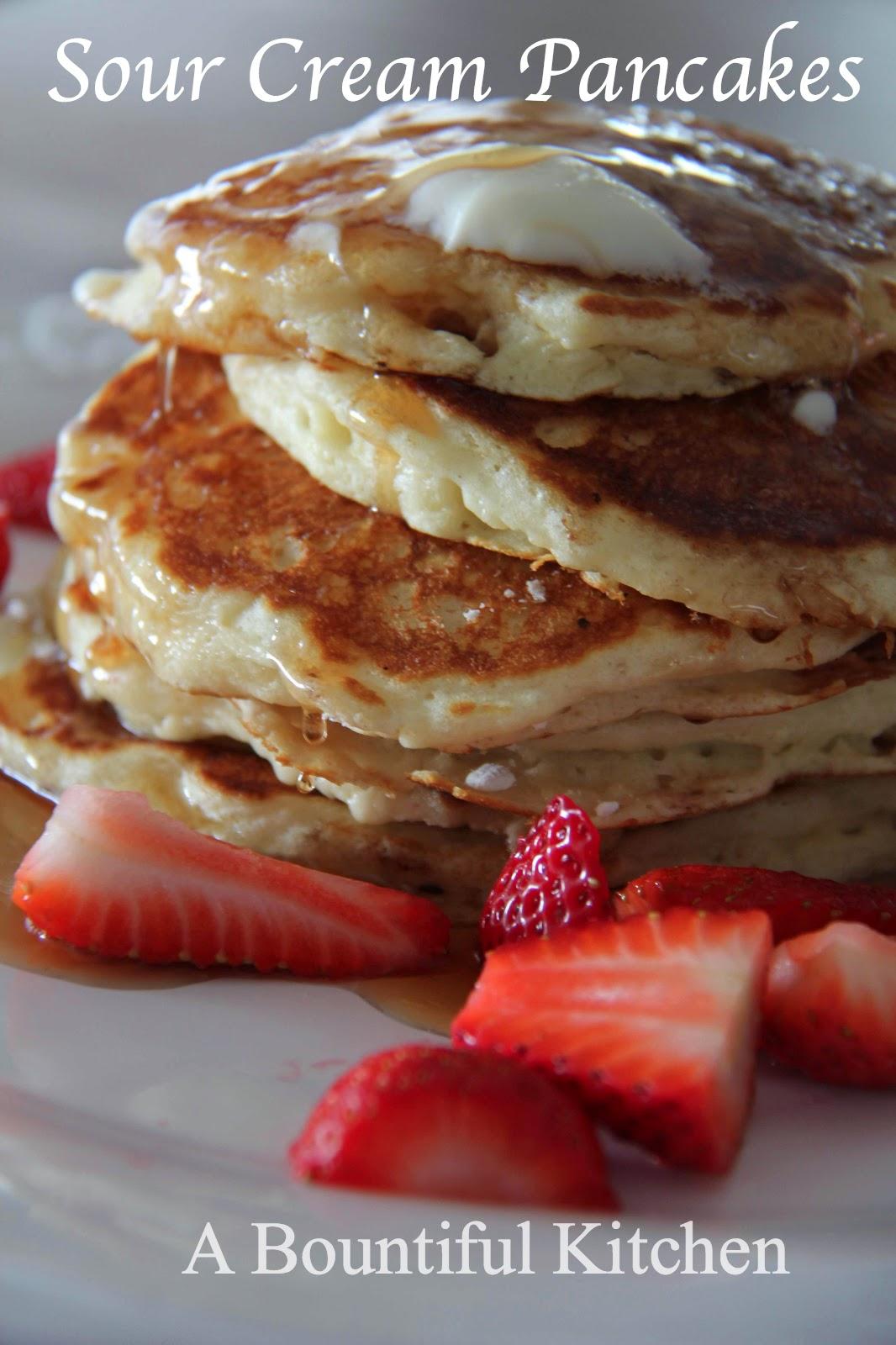 A Bountiful Kitchen Sour Cream Pancakes