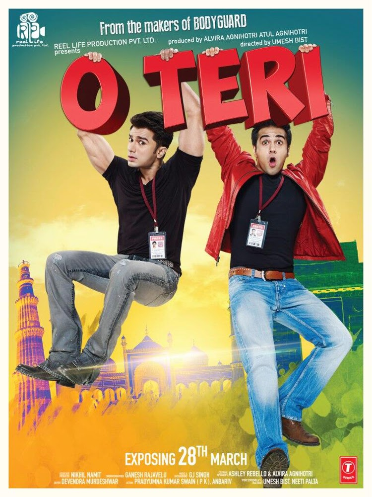 O Teri (2014) Hindi Movie First Look Poster | Pulkit Samrat, Bilal Amrohi, Sarah-Jane Dias