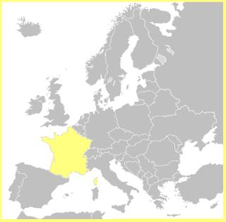 Situación de Francia en Europa