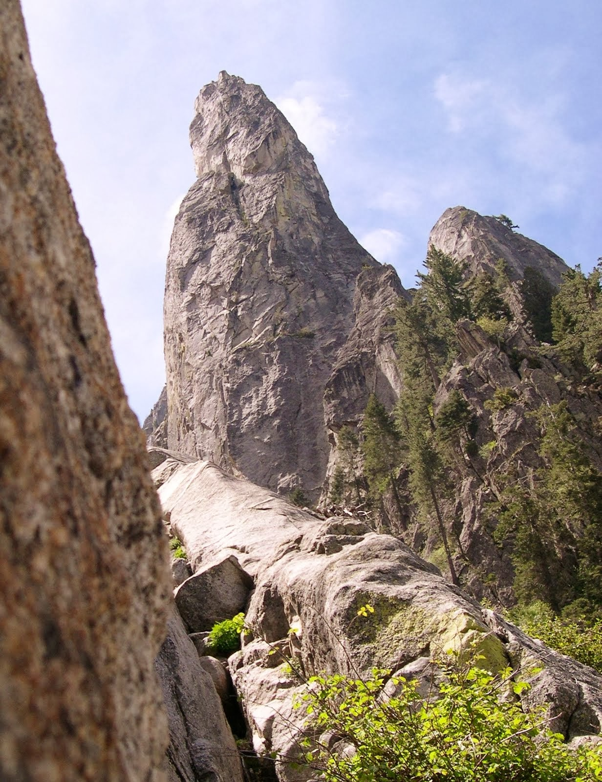 NE face of Castle Rock Spire