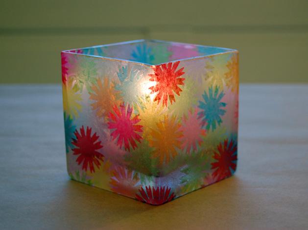 Chelsea Cecelia Creations Tissue Paper Mod Podge Vase