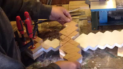 Gluing the Minecraft sword parts