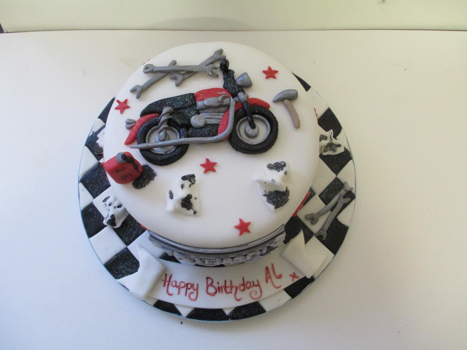 how to make a motorbike birthday cake