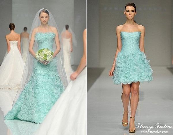 Mint green wedding dress reception dress things for Mint wedding guest dress