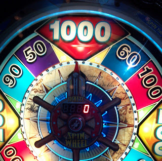 1000 tickets on the treasure quest wheel game