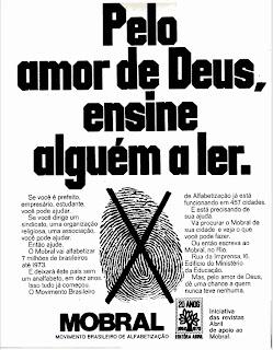 propaganda Mobral - 1970, 1970. História da década de 70. Propaganda nos anos 70. Brazil in the 70s. Oswaldo Hernandez.