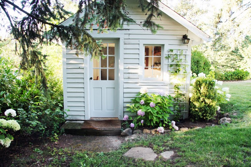 Something pretty to end the week the house that a m built for Pretty garden sheds