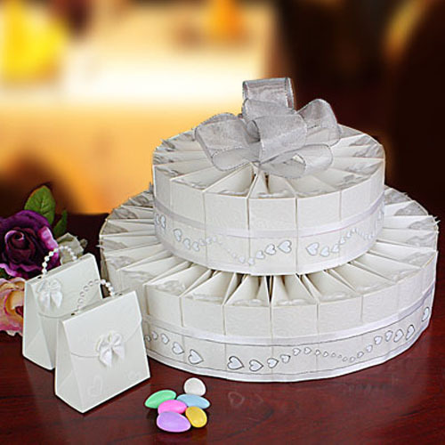 wedding cake favor box kit fashionbridesmaid. Black Bedroom Furniture Sets. Home Design Ideas