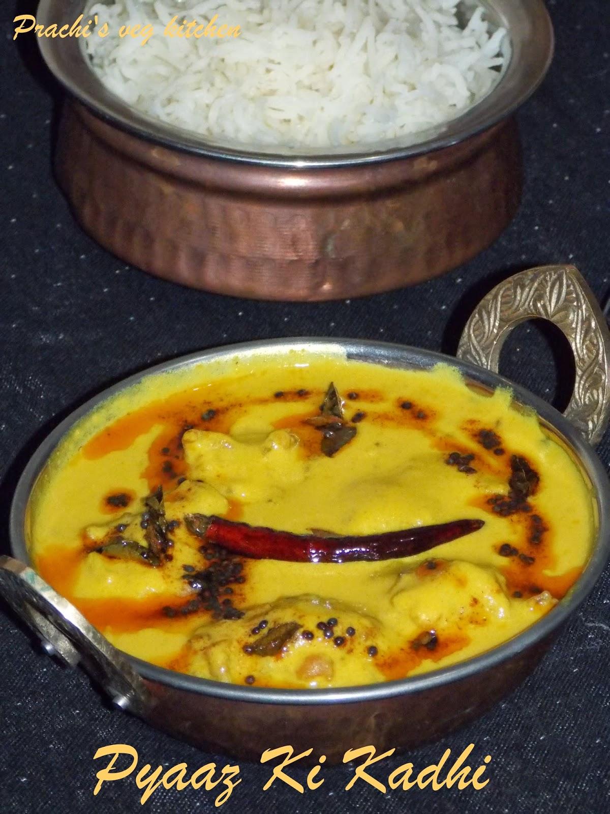 Prachis veg kitchenPyaaz ki Kadhi recipe/ Punjabi Kadhi recipe
