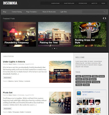 Insomnia Blogger Template