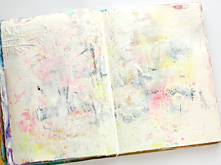 Hot Mess To Pretty Mixed Media Art Journal Background In Less Than 5 Minutes
