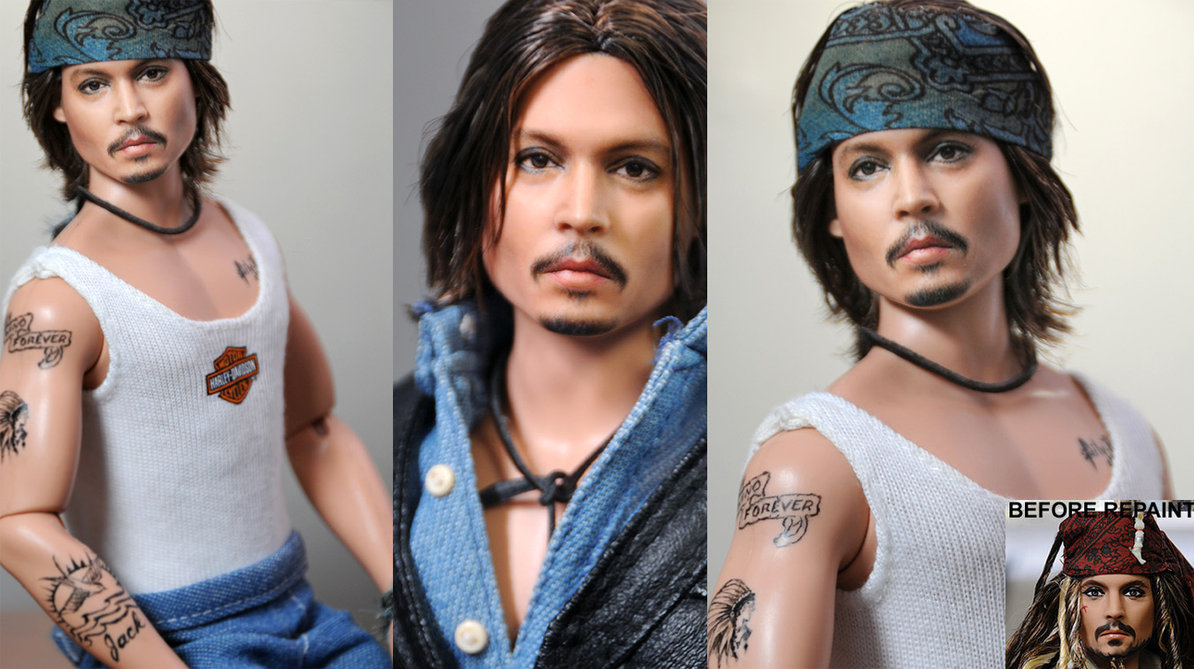 14-Johnny-Depp-Pirates-of-the-Caribbean-Noel-Cruz-Hyper-Realistic-Make-up-on-small-Dolls-www-designstack-co