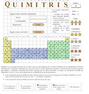 Crea y aprende con laura quimitris aprender la tabla peridica quimitris es un juego basado en el tetris para el aprendizaje de la tabla peridica de los elementos de forma entretenida las fichas formadas por uno urtaz Images