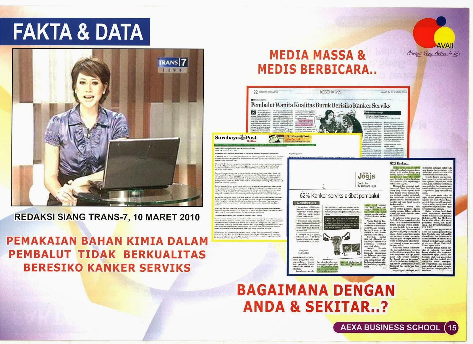 Fakta dan data pembalut murah berbahaya