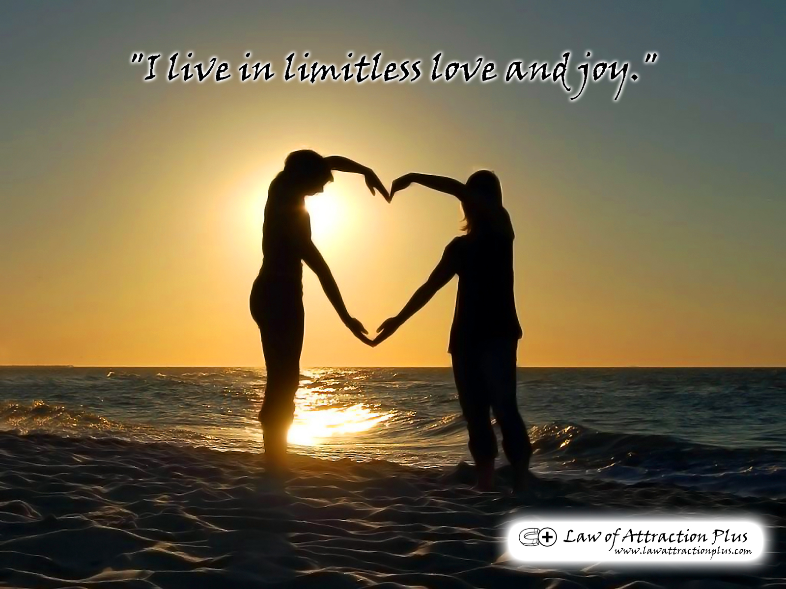 "Love Attraction Quotes I Live In Limitless Love And Joy."" Wallpaper  Decree  Law Of"