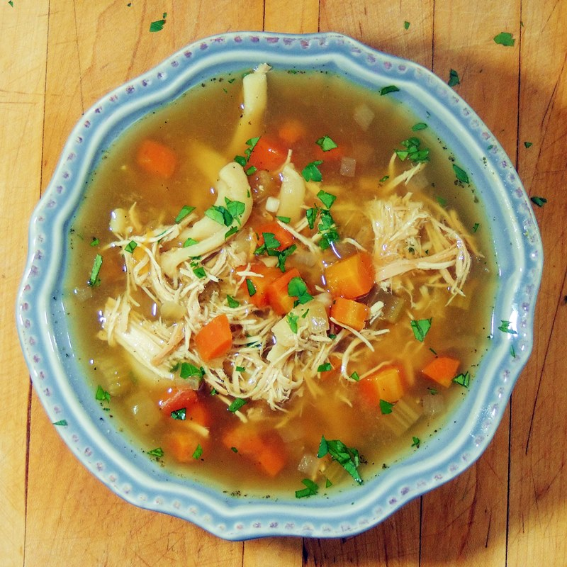 how to make chicken noodle soup with chicken breast