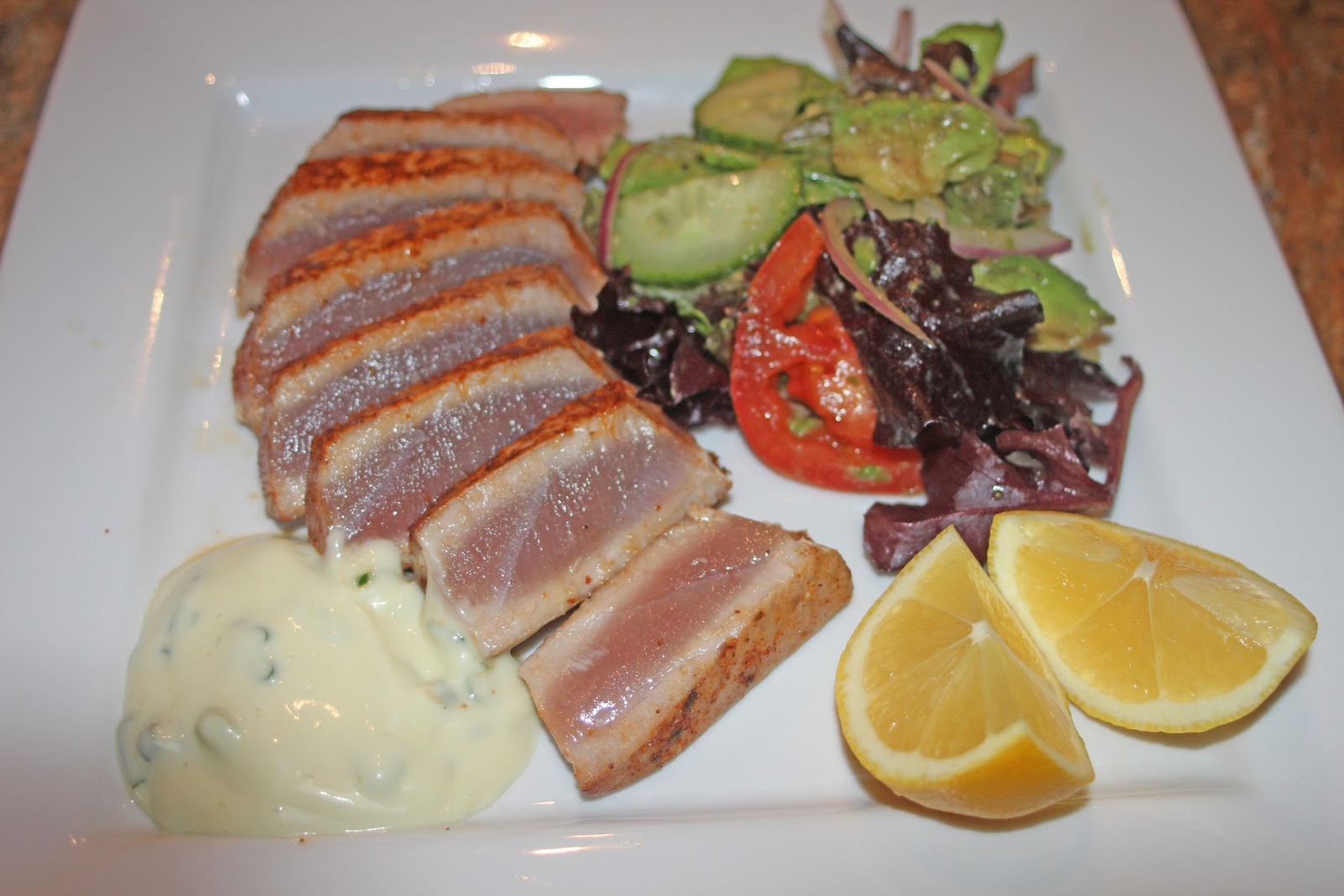... with Camissonia: Seared Ahi Tuna with Wasabi-Honey Mayonnaise Sauce