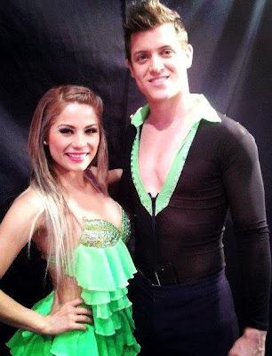 """Gino Pesaressi con su compañera de baile en """"El Gran Show"""""""