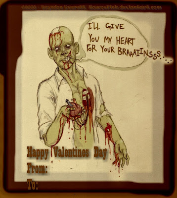 This Valentine Is A Little More Cutesy And With Chickens, But Zombified  Nonetheless. It Comes From The Site Savage Chickens And Was Created By John  Savage.