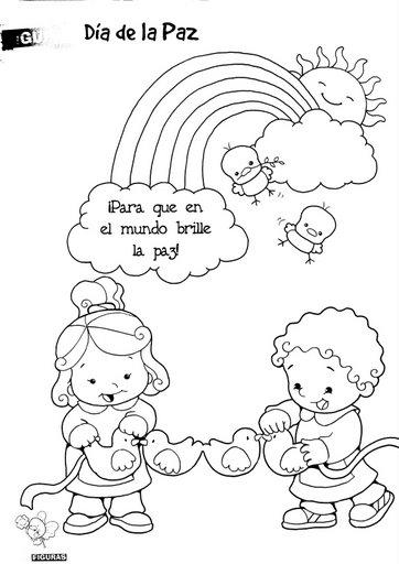 ESOS LOCOS BAJITOS DE INFANTIL: FICHAS DE PAZ PARA COLOREAR