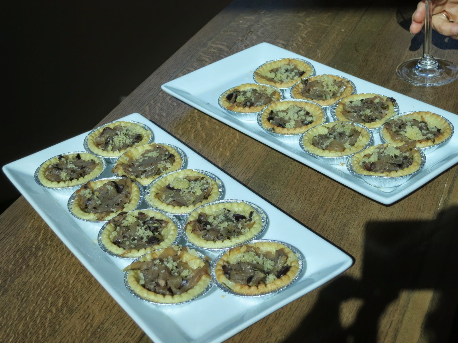 Freshly baked French Onion tarts