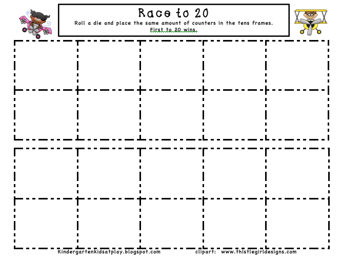 Number Names Worksheets » Ten Frames Kindergarten - Free Printable ...