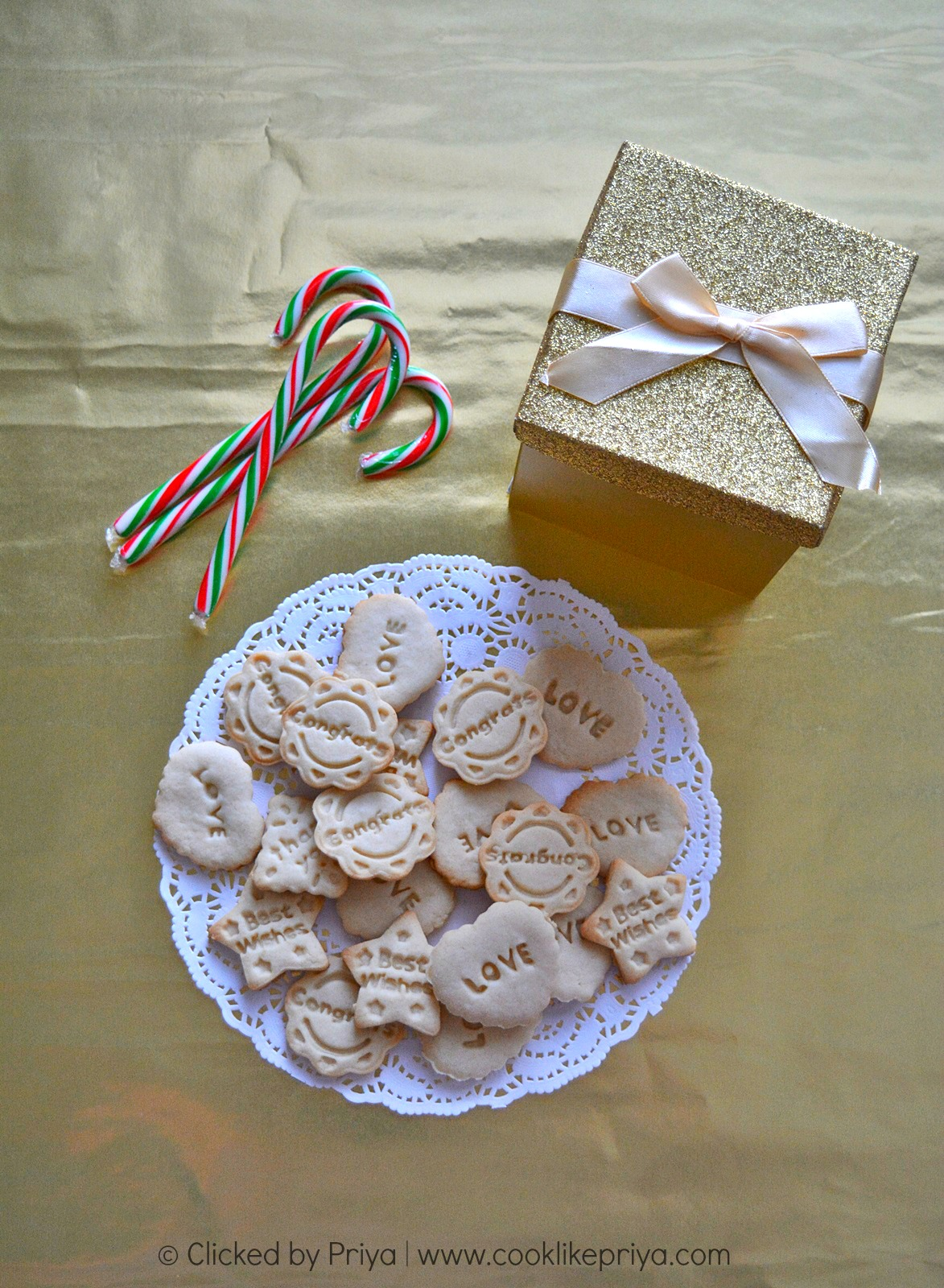 Eggless Sugar Cookies Recipe