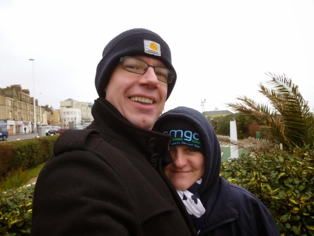 Minigolf adventurers Richard and Emily Gottfried in Hastings