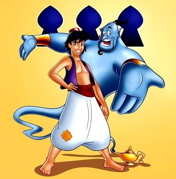 Aladdin and Genie cartoon picture 2