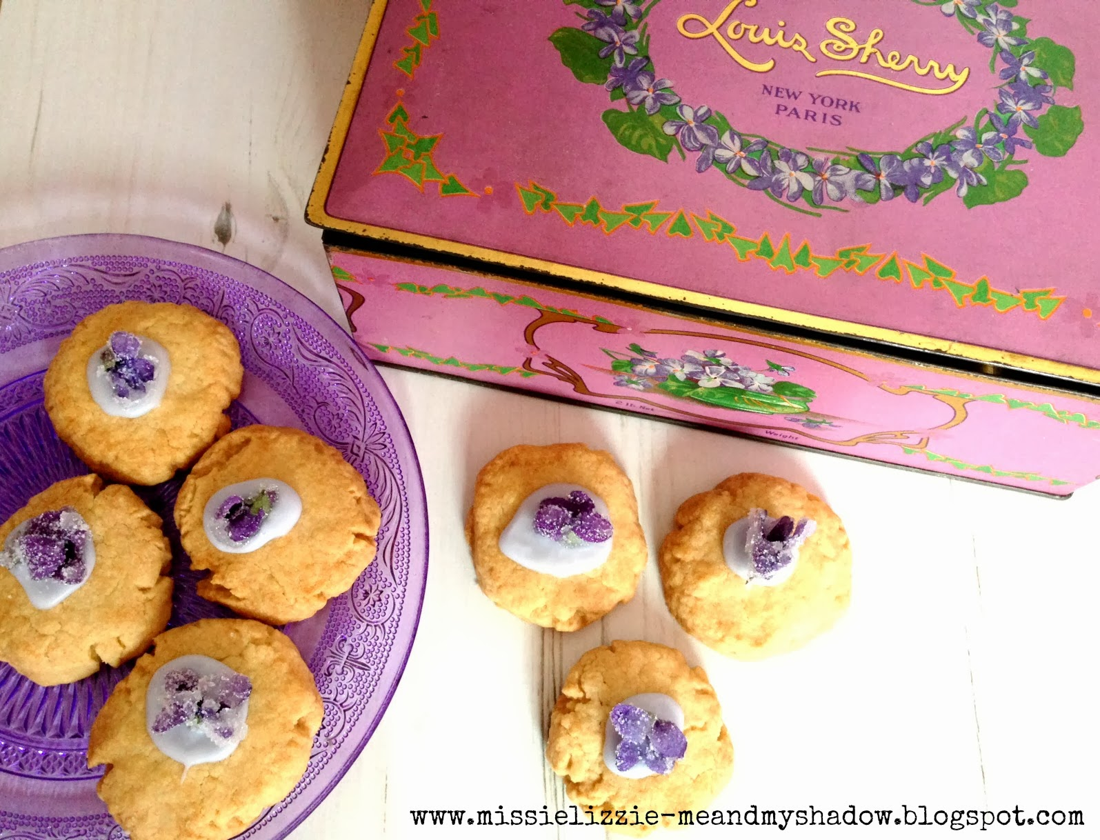 Foraged Sweet Violet Biscuits