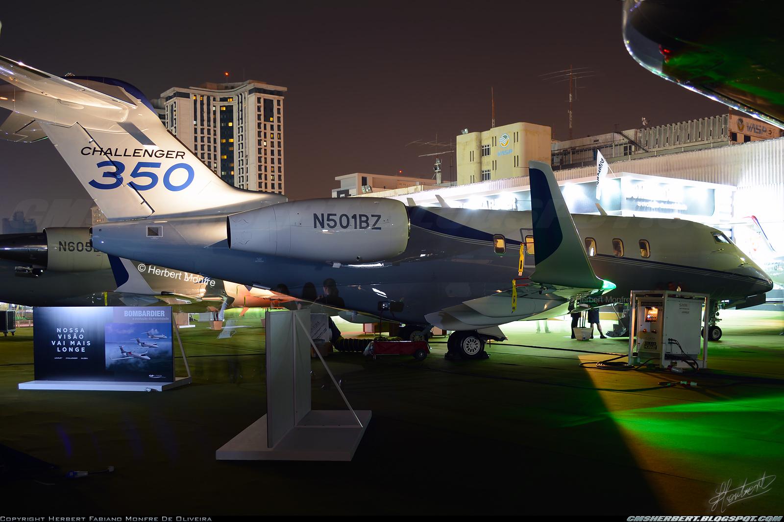 É MAIS QUE VOAR | Bombardier Challenger 350 - Foto © Herbert Monfre.